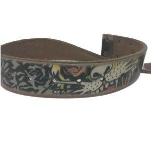Ed Hardy Genuine Leather Belt TIGER